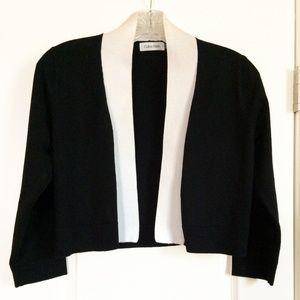 Calvin Klein long sleeve B&W knit shrug MINT